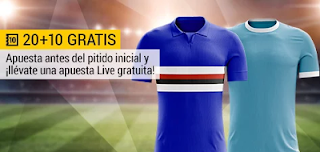 bwin promocion 10 euros Sampdoria vs Lazio 3 diciembre