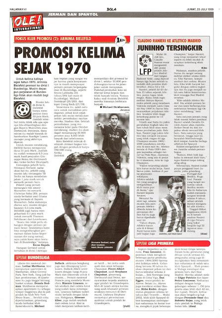 ARMINIA BIELEFELD PROMOSI KELIMA SEJAK 1970