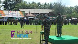 Dalam Rangka Gladi Lapang Penanggulangan Bencana, Kodim0708/ Purworejo bersama Forkompida adakan Apel Kesiap Siagaan Bencana