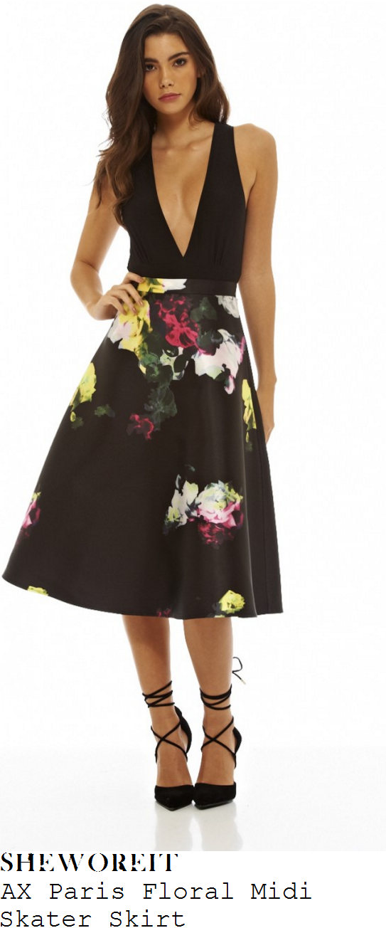 casey-batchelor-ax-paris-black-and-multicoloured-floral-print-high-waisted-full-midi-skirt