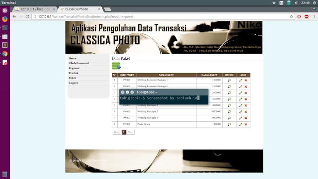 Aplikasi Data Transaksi Photo Studio Dengan PHP MySQL