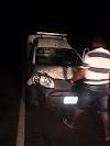 Ambulância do hospital de Francinólis se envolve em acidente na PI-224; bateu contra uma vaca