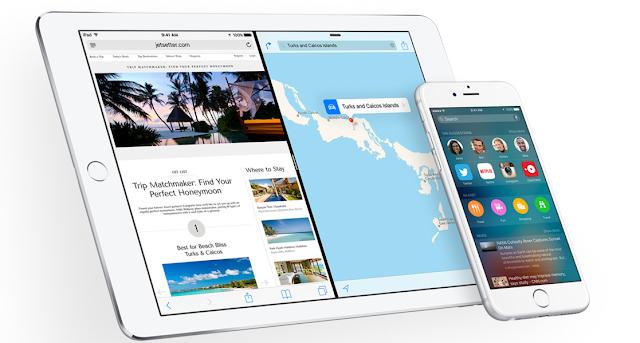 Gambar tampilan Apple iOS 9 terbaru