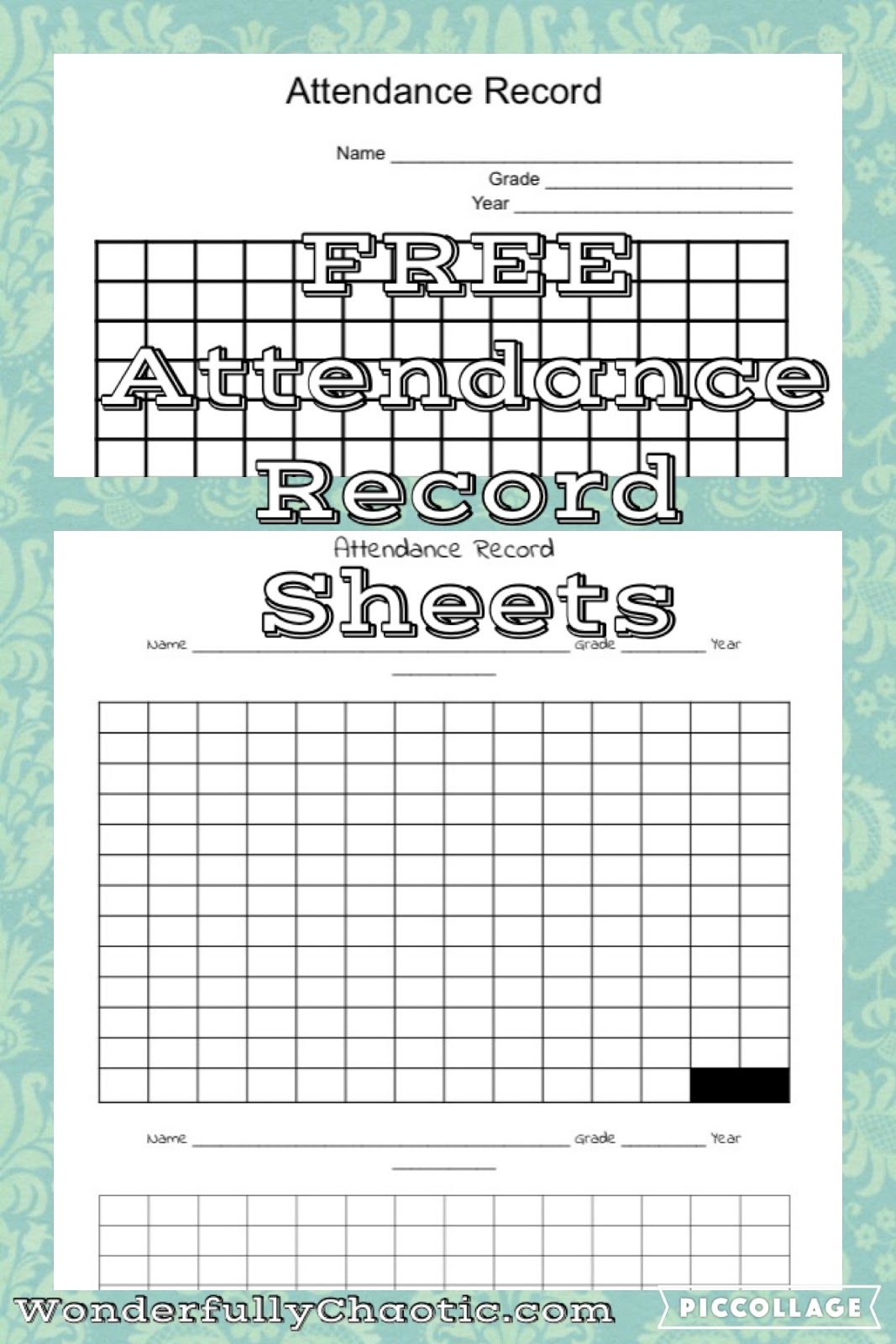 Peachy Free Homeschool Attendance Record Sheets Wonderfully Chaotic Download Free Architecture Designs Scobabritishbridgeorg