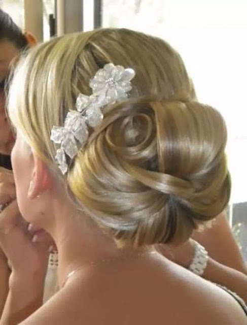 rolled braid wedding bun
