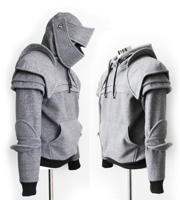 Armored knight hoodie