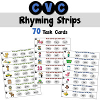 CVC Rhyming Strips