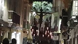 Santísimo Cristo del Perdón por la Calle Pelota en la Semana Santa Cádiz 2019