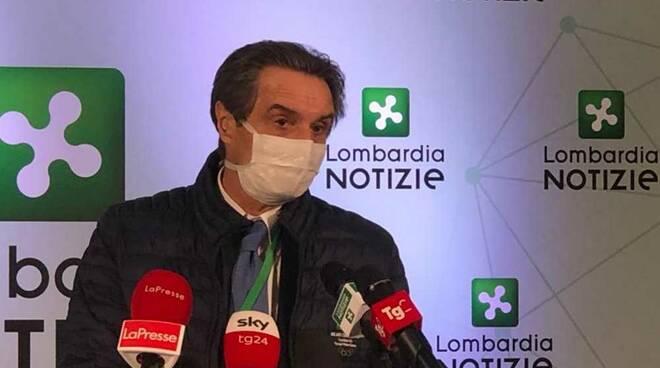 "Fontana: ""Chiederò Lombardia in zona arancione"""