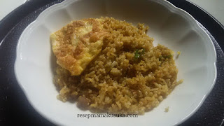 Resep Nasi Goreng Terasi  Telur Bebek Dadar