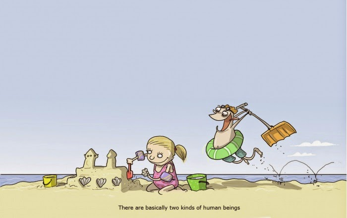 Funny Two Kinds Human Beings Cartoon Joke Picture