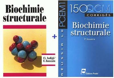 Biochimie structurale (Glucides, Lipides, Peptides, Acides nucléiques ....) + 150 QCM.