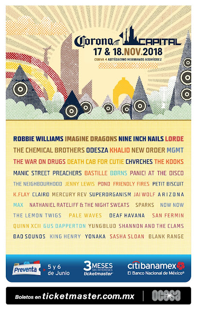 CARTEL DE CORONA CAPITAL 2018