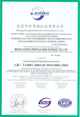 Sertifikasi ISO UPVC Conch