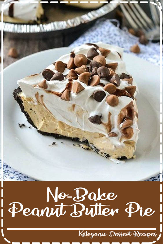 A simple recipe for creamy and delicious No No-Bake Peanut Butter Pie