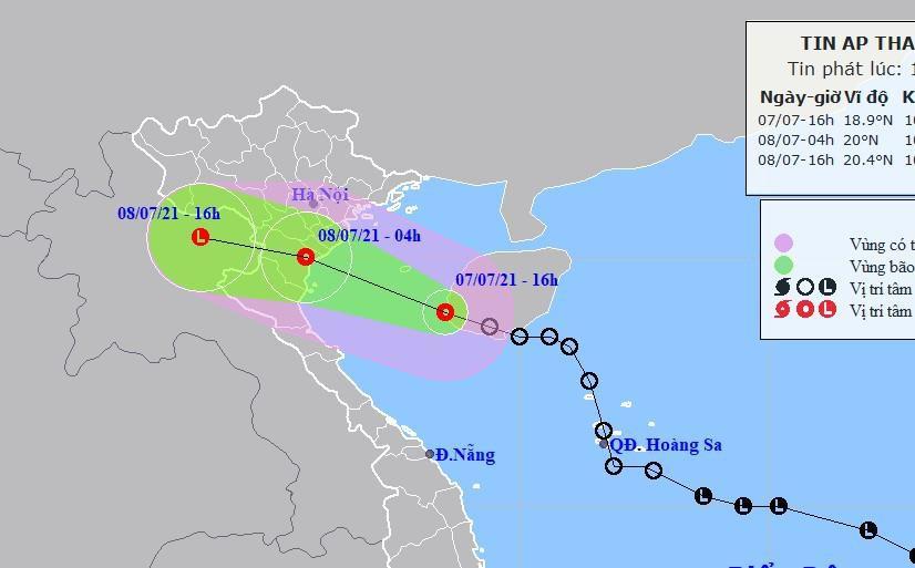 Tin áp thấp nhiệt đới và 5 tỉnh thành cần tránh vùng biển