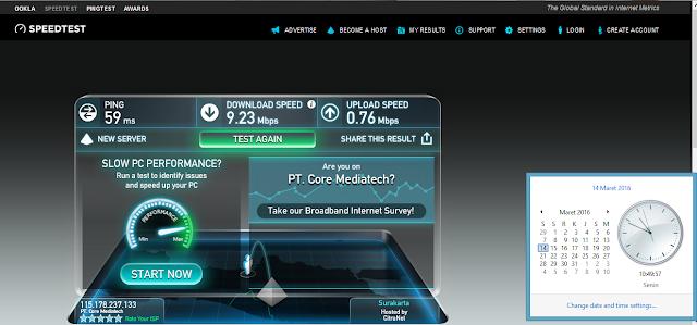 Perbandingan Kecepatan 4G Smartfren dengan Mifi Andromax M2S di Perpustakaan Pusat UGM, Sleman Yogyakarta
