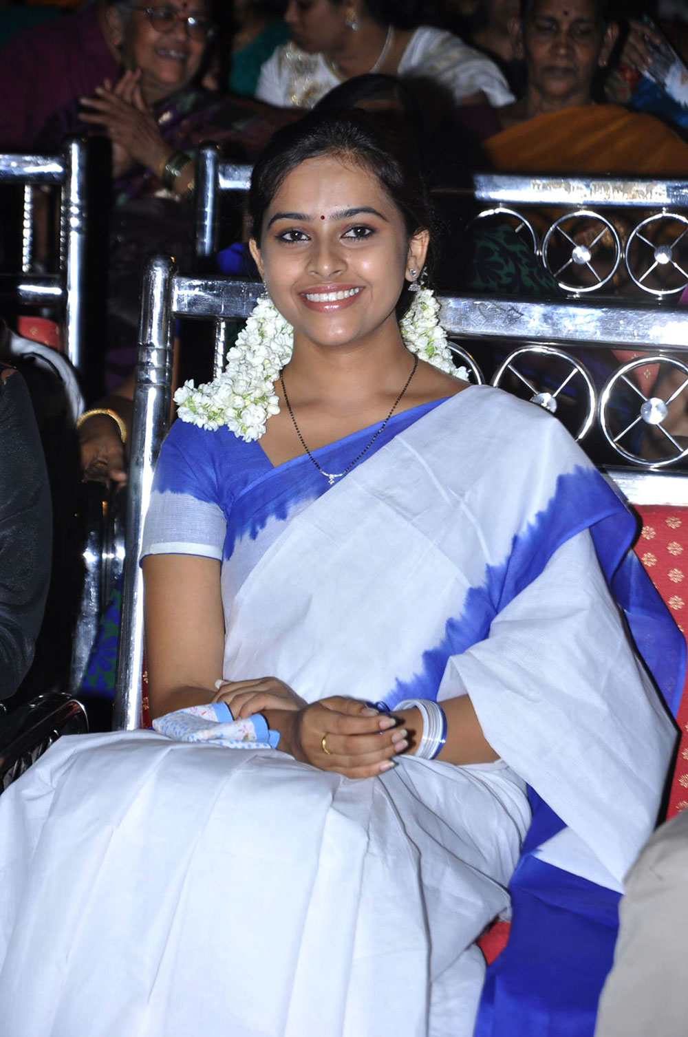 ethnic indian girl Sri divya photos at mallelatiramlo sirimalle puvvu audio launch