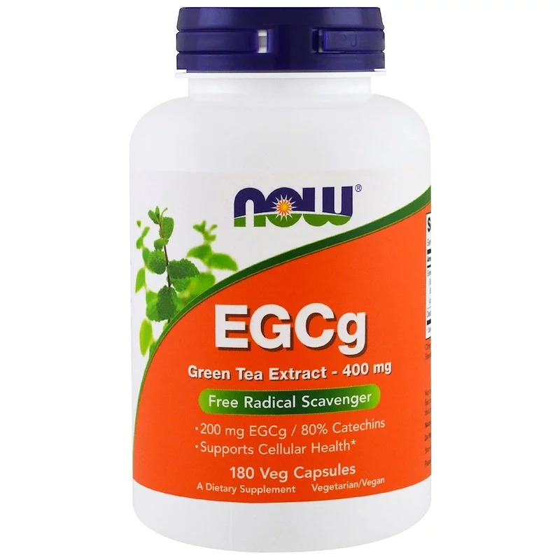 Now Foods, EGCg, экстракт зеленого чая, 400 мг, 180 растительных капсул