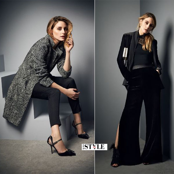 Olivia Palermo in grey coat black pants coast 2016 fall campaign what she wore