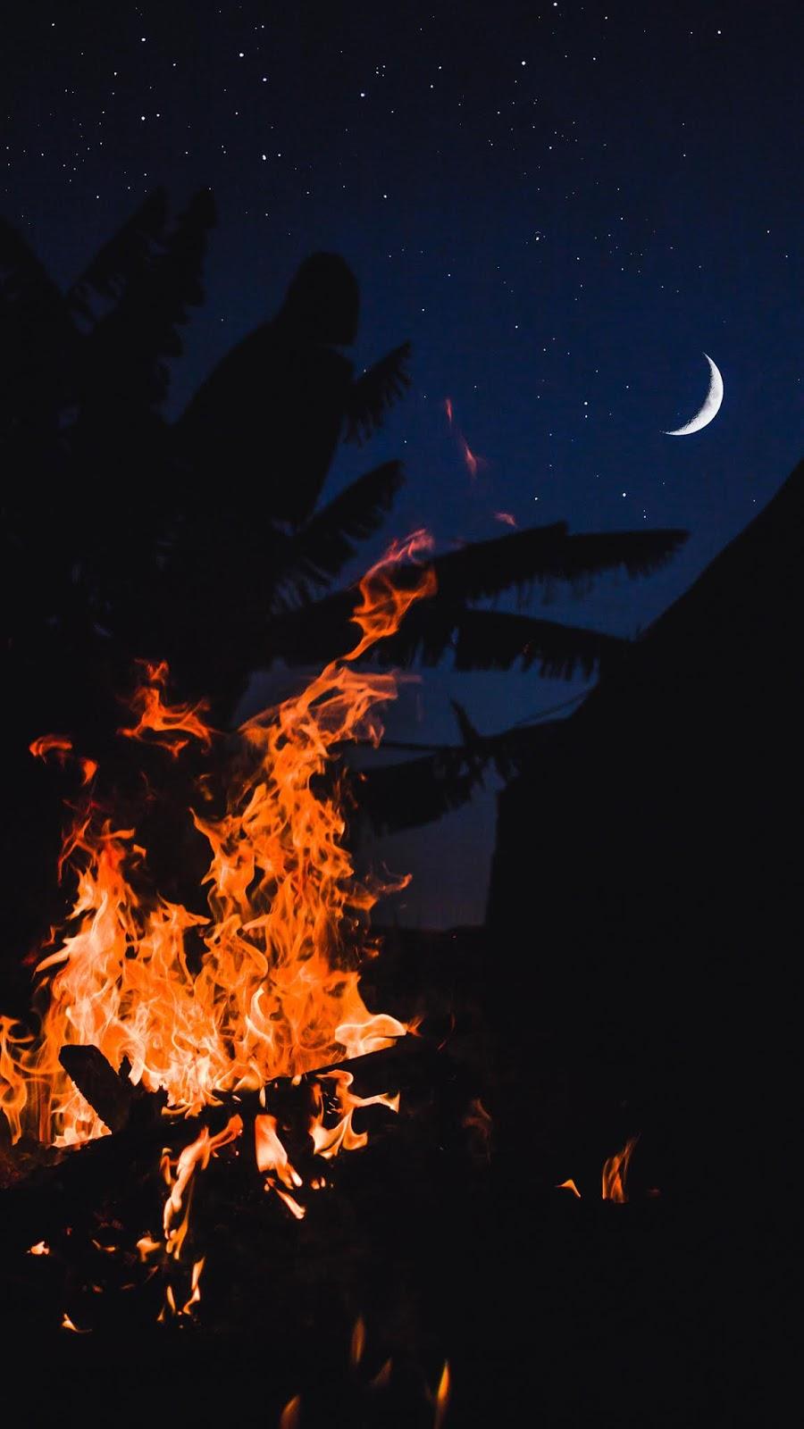 Bonfire in the crescent moon
