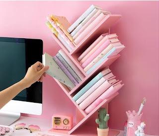 Bookshelf rak buku zigzag
