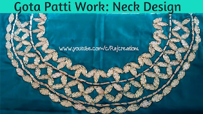 how to do gota patti work