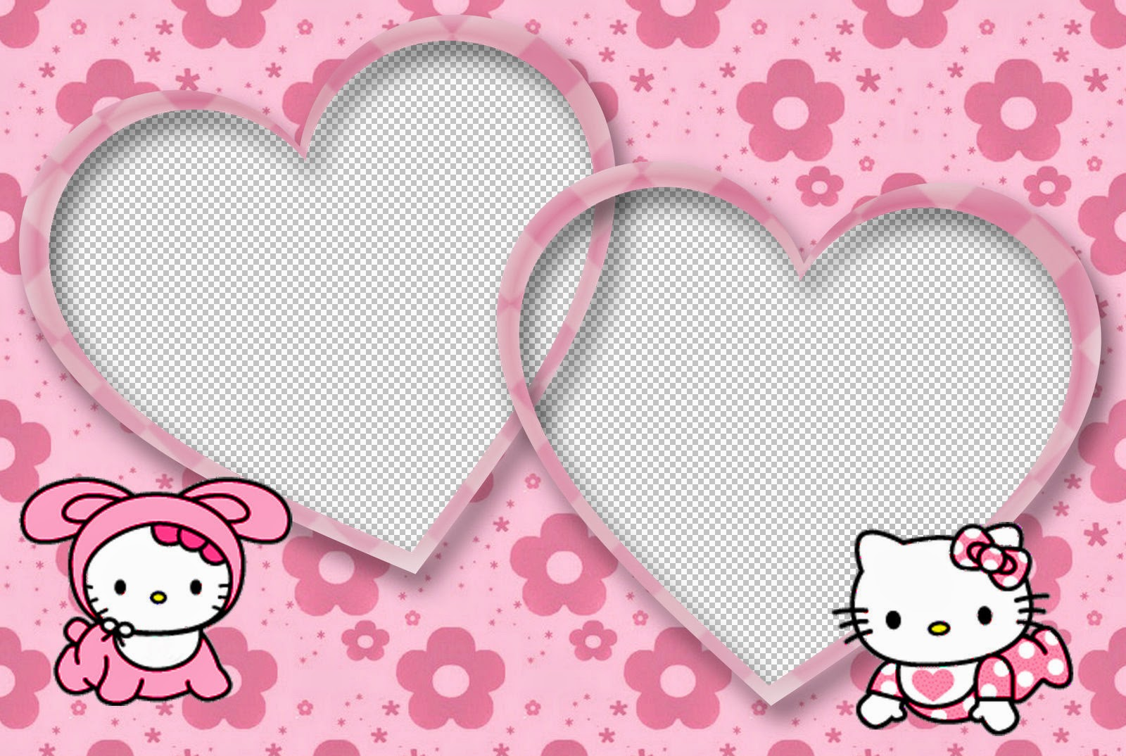 Hello Kitty Baby Free Printable Invitations, Cards, Frames or Backgrounds.