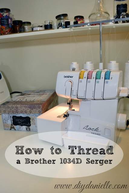 Tutorial: Threading a Brother 1034D Serger
