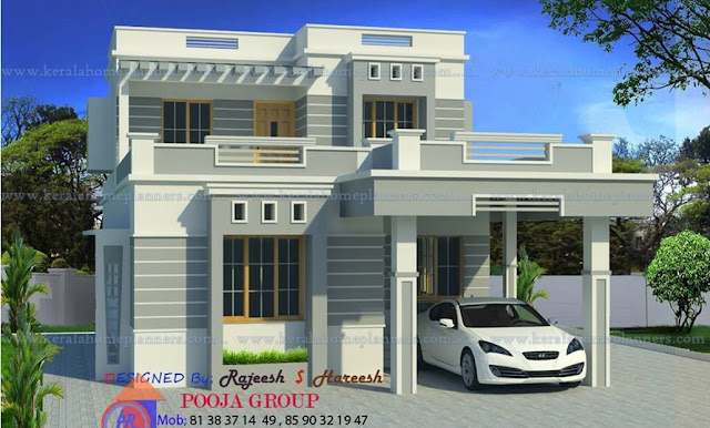 Below 25 lakhs house plan in Kerala, low budget contemporary home desings