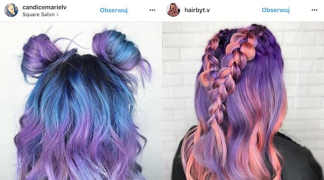 fioletowe włosy inspiracje