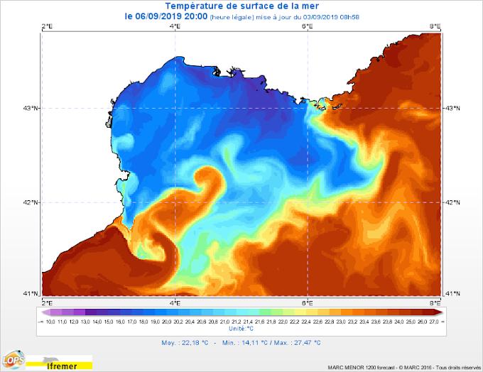 La température de la mer va bientôt repasser sous la barre des 20°C !