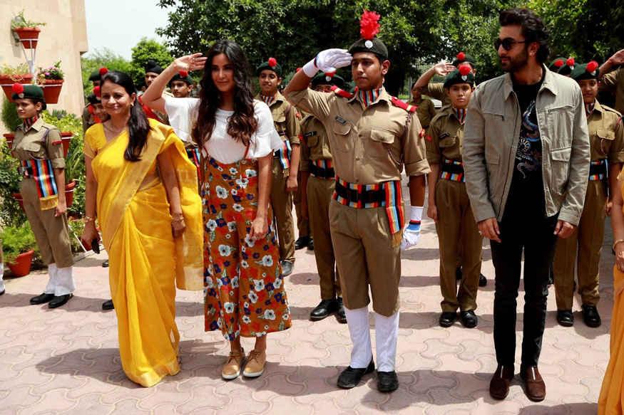 Ranbir and Katrina Kaif Meet The Kids of Ryan International School In Vasant Kunj, Delhi