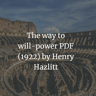 The way to will-power PDF
