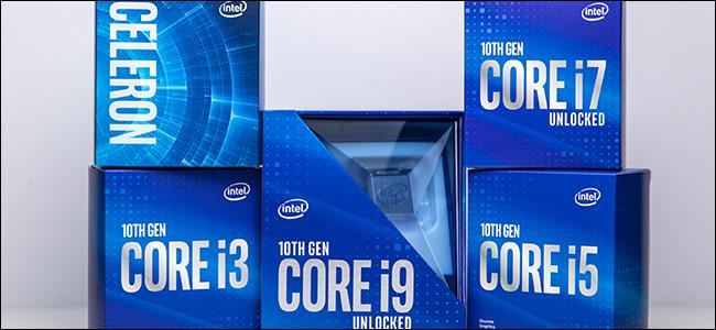 خمس باقات Intel Comet Lake من الجيل العاشر.