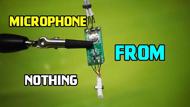How to Make Your Own Microphone From The Old headphones