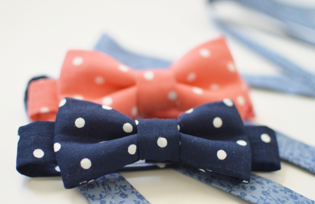 polka dot bow ties and little boy suspenders