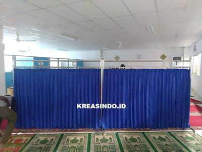 Hijab Masjid Stainless pesanan PT Bonecom Tricom di Cikarang Bekasi