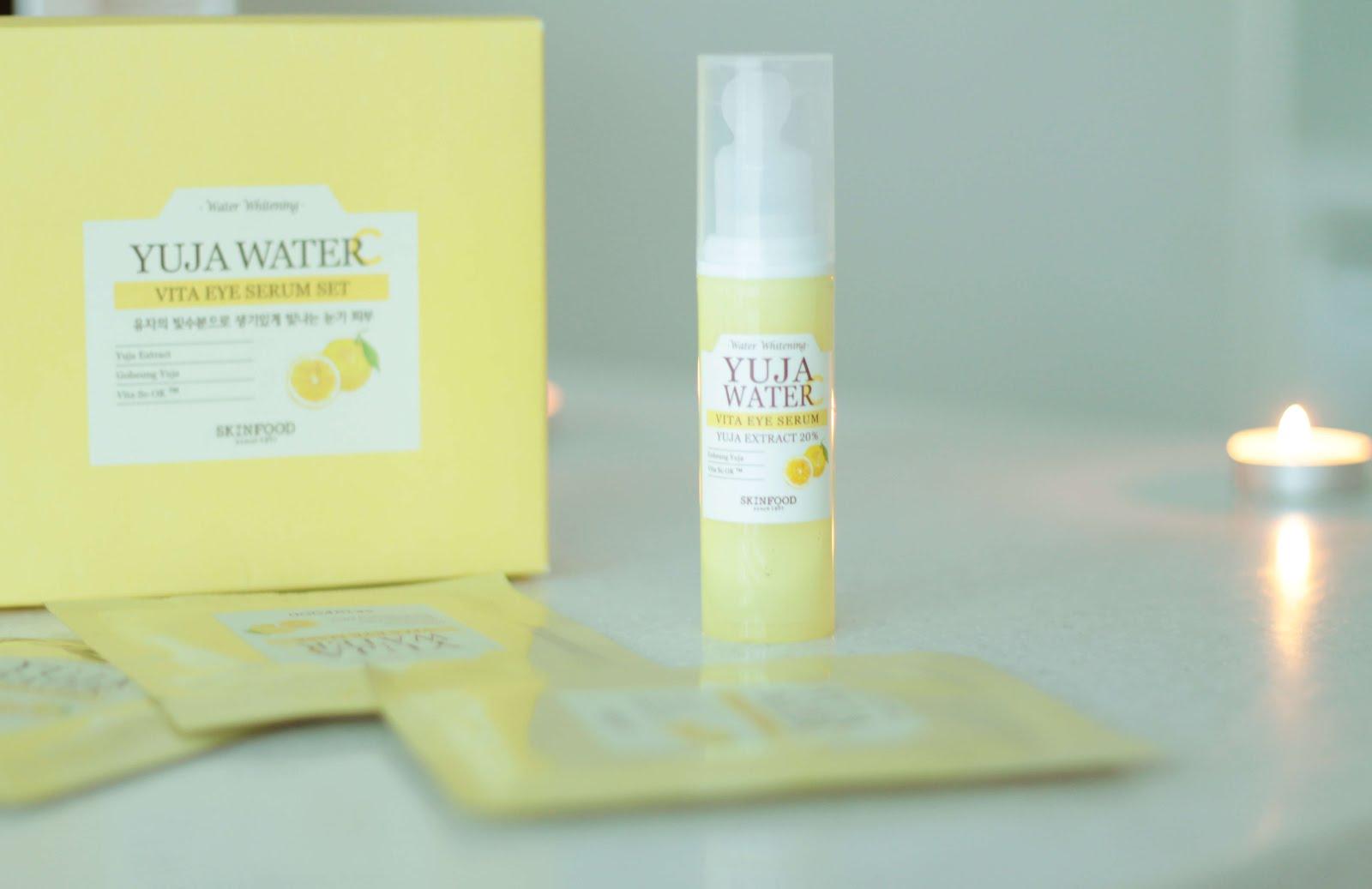 skinfood yuja water vita eye serum set