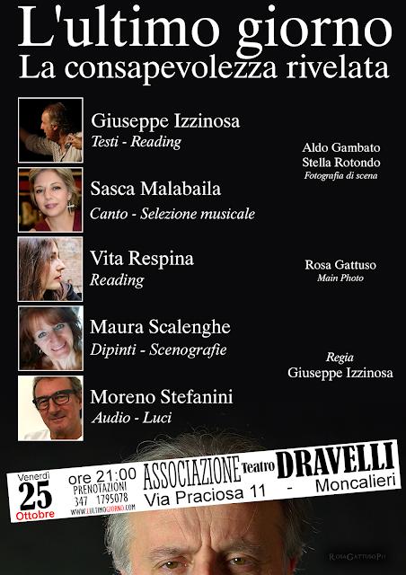 L'ultimo giorno - locandina serata Teatro Dravelli 25 ottobre 2019 - prenotazioni www.lultimogiorno.com