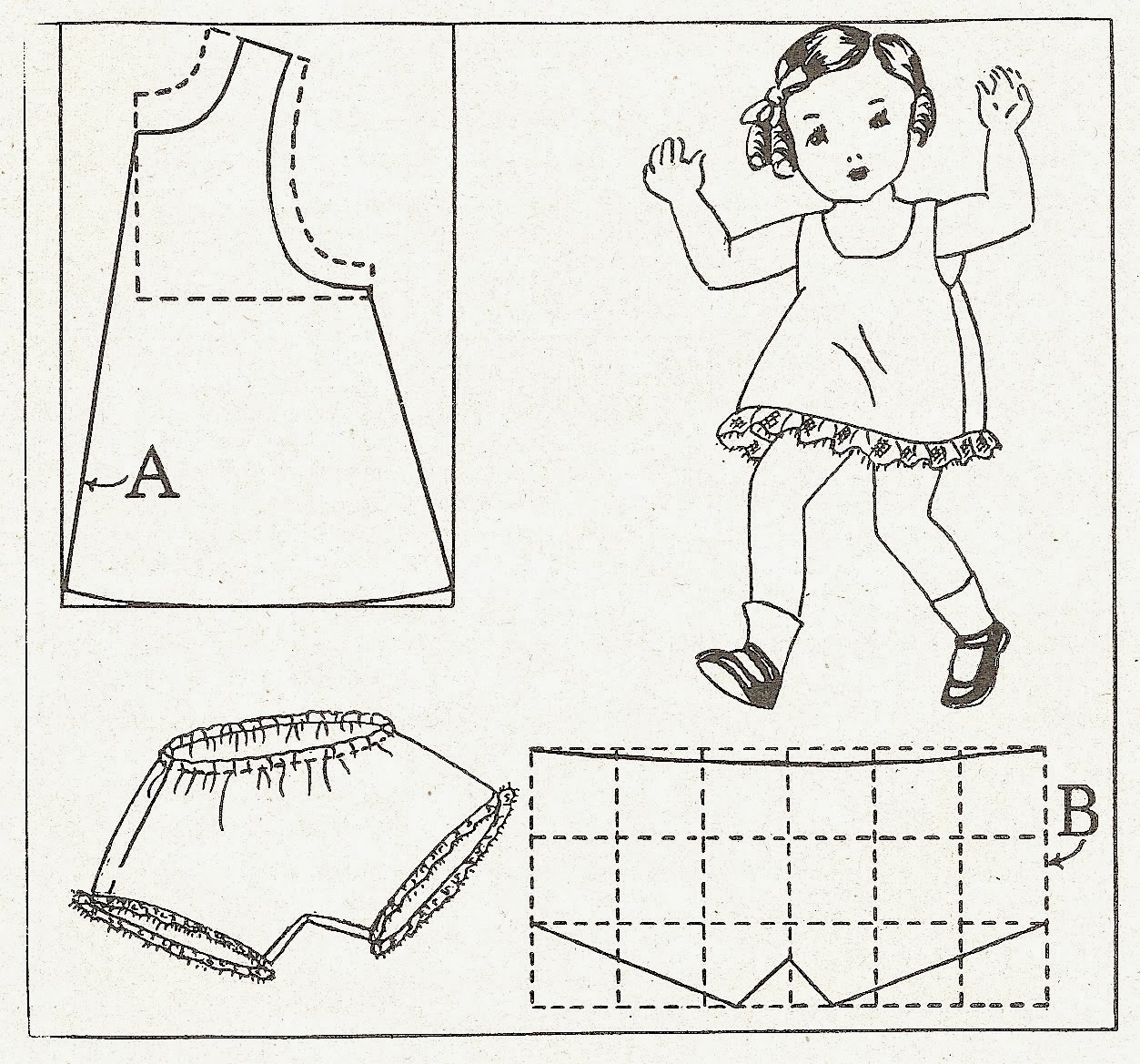 Sentimental Baby: Doll Dress, Slip & Panties Patterns