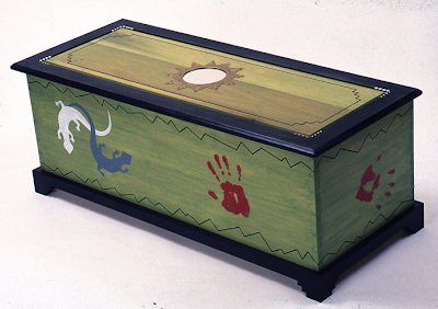 blanket chest, painted
