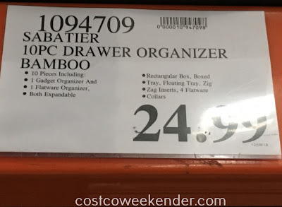 Deal for the Sabatier 10-piece Bamboo Drawer Organizer Set at Costco