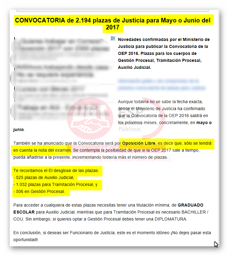 Ugt distrito sanitario m laga guadalhorce pr xima for Convocatoria para plazas docentes 2017