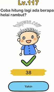 Jawaban Brain Out Level 117 Coba Hitung Lagi Ada Berapa Helai Rambut