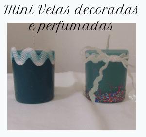 velas decoradas e perfumadas