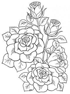 Gambar bunga kartun gambar untuk mewarnai