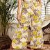 Wide Leg Pants Yellow Floral