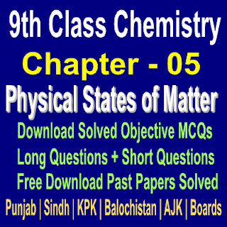 Chemistry Chapter Five Notes Online All Pakistan Boards
