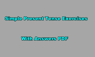 Simple Present Tense Exercises With Answers PDF